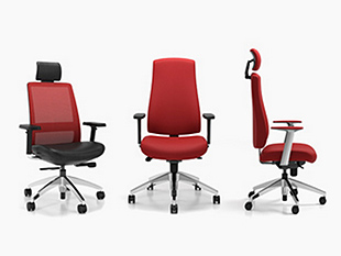 3 ergonomic chairs with adjustable heights